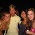 At the Contrada del Lecorno party