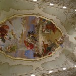 Ceiling of the concert room