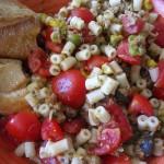 homemade: tuna pesto pasta with cherry tomatoes