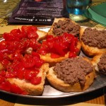 """appetizers at """"Sira e Remino"""" restaurant, in Chianti Tuscany"""