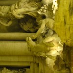 close up of the Trevi horse
