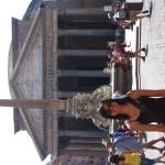 Fontana del Pantheon e il Pantheon
