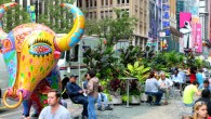 The Fancy Animal Carnival exhibit is organized by Taipei's InSian Gallery, the Garment District Alliance...